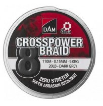 DAM CROSSPOWER 8-BRAID 150M -DARK GREY