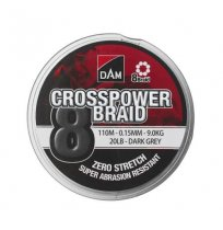 DAM CROSSPOWER 8-BRAID 300M DARK GREY