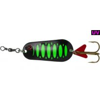 EFFZETT STANDARD SPOON 5,5CM / 22G FLUO GREEN/BLACK UV